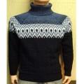 Мужской свитер № 07149 т.синий