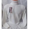 Мужской свитер № 07160 белый