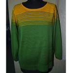 Женский джемпер № 076 жёлто-зелёный