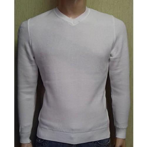 Мужской пуловер № 10145 белый