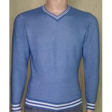 Мужской пуловер № 10145 голубой