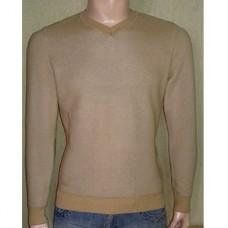 Мужской пуловер № 10145 горчица