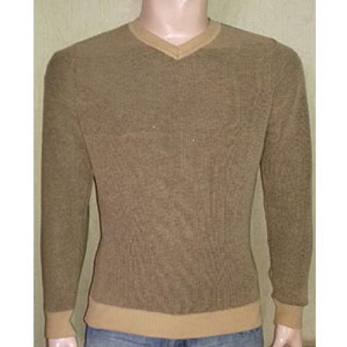 Мужской пуловер № 10145 т.горчица