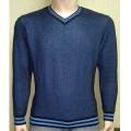 Мужской пуловер № 10145 т.синий