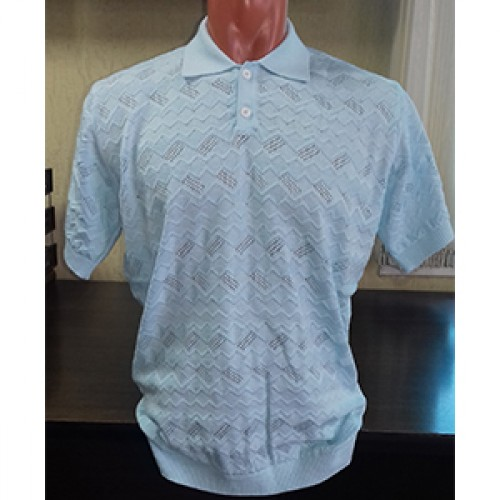 Мужская футболка № 14004 св.голубой
