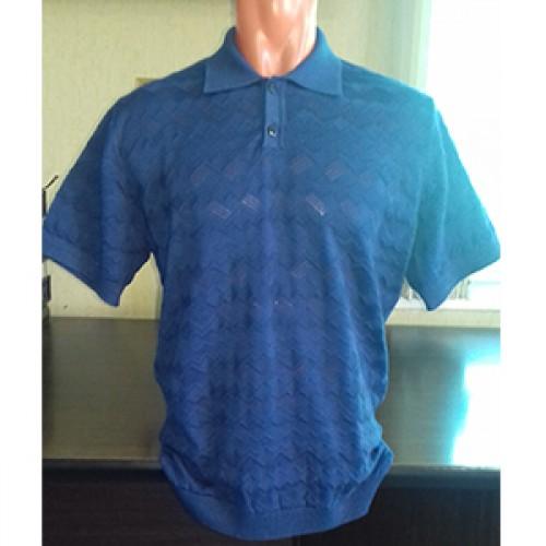 Мужская футболка № 14004 т.синий