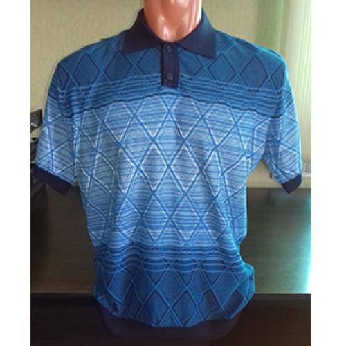 Мужская футболка № 14005 синий
