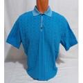 Мужская футболка № 140112 т.голубой