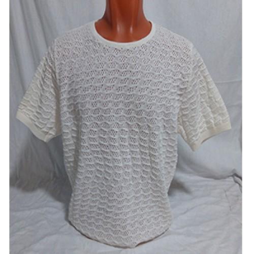 Мужская футболка № 140122 молочный