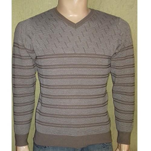 Мужской пуловер № 14036 св.коричневый