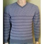Мужской пуловер № 14036 серый