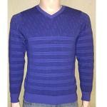 Мужской пуловер № 14036 фиолетовый