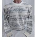 Мужской джемпер № 14044 бело-серый