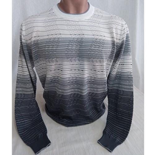 Мужской джемпер № 14049 бело-серый