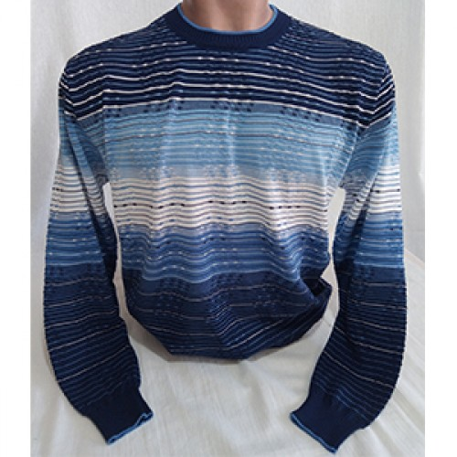 Мужской джемпер № 14049 т.синий-голубой