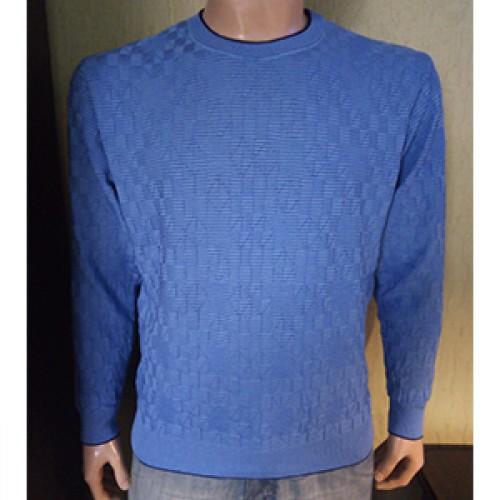 Мужской джемпер № 14055 голубой