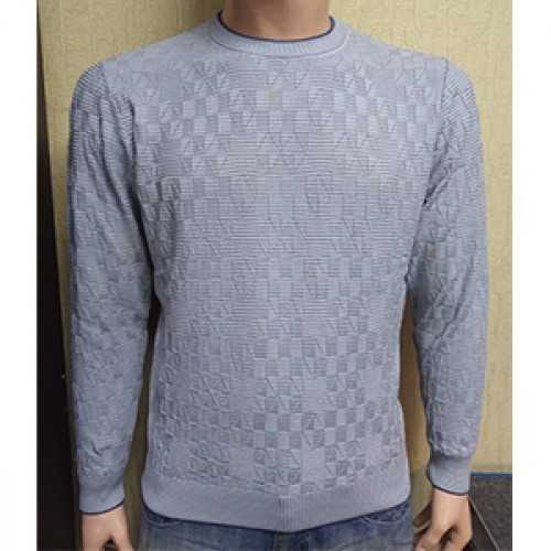 Мужской джемпер № 14055 серый
