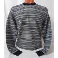 Мужской джемпер № 14056 чёрно-т.серый