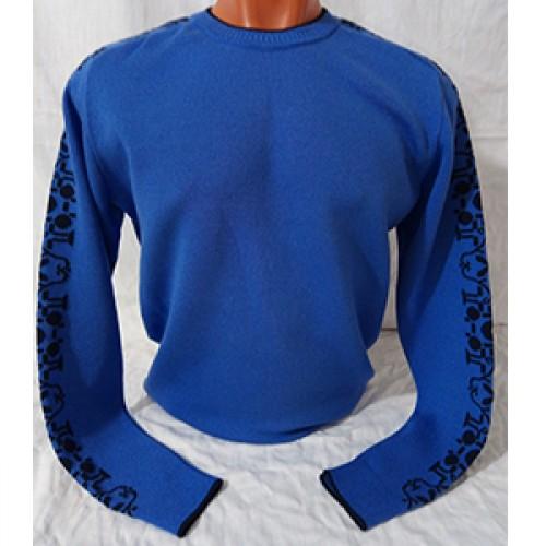 Мужской джемпер № 14064 синий