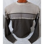 Мужской джемпер № 14095 бежево-коричневый