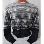 Мужской джемпер № 140100 чёрно-серый