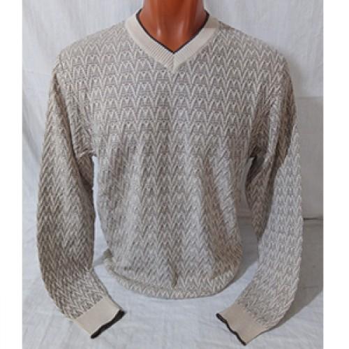 Мужской пуловер № 14102 бежевый