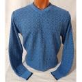 Мужской пуловер № 14102 голубой