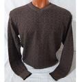 Мужской пуловер № 14102 коричневый
