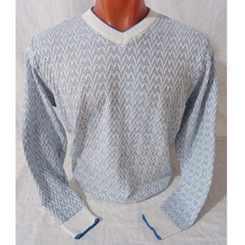 Мужской пуловер № 14102 св.голубой