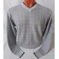 Мужской пуловер № 14102 св.серый