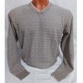 Мужской пуловер № 14102 т.бежевый