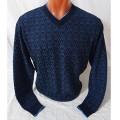 Мужской пуловер № 14102 т.синий