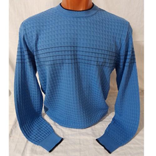 Мужской джемпер № 14109 голубой