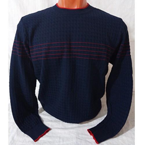 Мужской джемпер № 14109 т.синий-красный