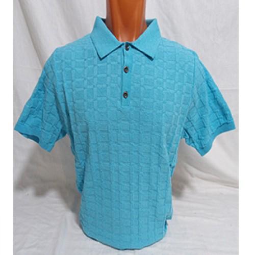 Мужская футболка № 140112 св.бирюзовый