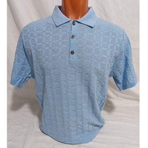 Мужская футболка № 140112 св.голубой