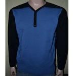 Мужской пуловер № 14387 чёрно-голубой