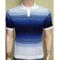 Мужская футболка № 14446 бело-голубой