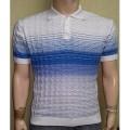 Мужская футболка № 14449 бело-голубой