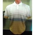 Мужская футболка № 14449 бело-горчичный