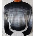 Мужской джемпер № 14460 чёрно-серый