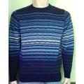 Мужской джемпер № 14472 т.синий-голубой