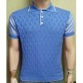 Мужская футболка № 14491 голубой