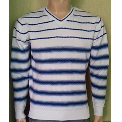 Мужской пуловер № 14495 бело-голубой