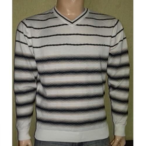 Мужской пуловер № 14495 молочно-коричневый