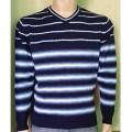 Мужской пуловер № 14495 т.синий